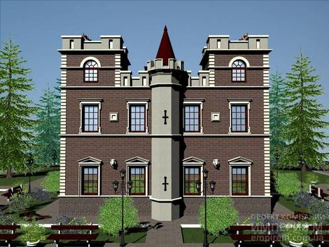 Проект отеля замка